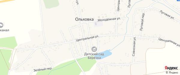 Садиковая улица на карте села Ольховки с номерами домов