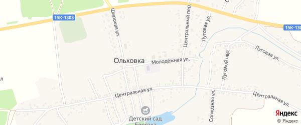 Молодежная улица на карте села Ольховки с номерами домов