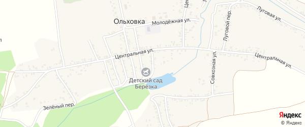 Вишневый переулок на карте села Ольховки с номерами домов