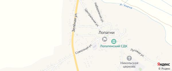 Совхозный переулок на карте села Лопатни с номерами домов