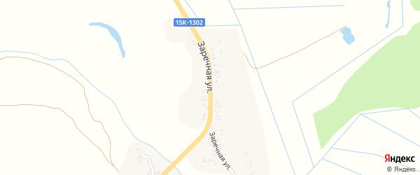 Заречная улица на карте села Лопатни с номерами домов