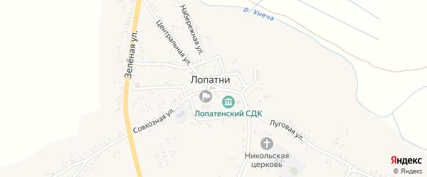 1-й Клинцовский переулок на карте села Лопатни с номерами домов