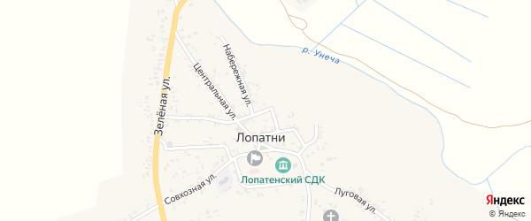 Набережная улица на карте села Лопатни с номерами домов