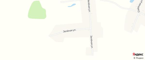 Зеленая улица на карте поселка Красного Гая с номерами домов