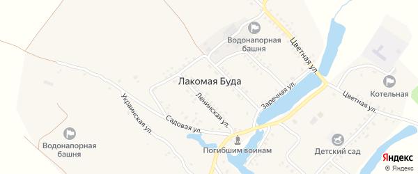 Октябрьская улица на карте села Лакомой Буды с номерами домов