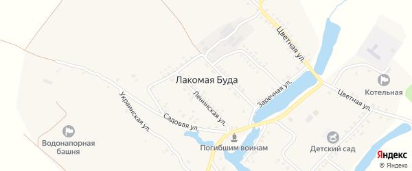 Заречная улица на карте села Лакомой Буды с номерами домов