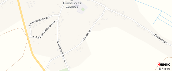 Южная улица на карте села Лопатни с номерами домов