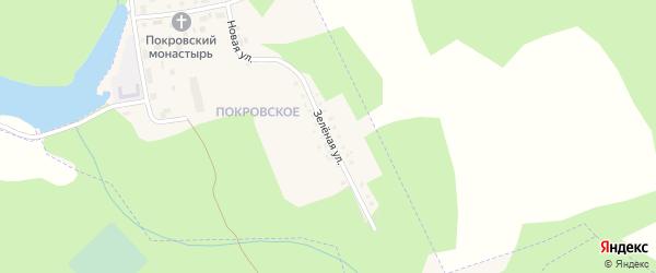 Зеленая улица на карте поселка Климово с номерами домов