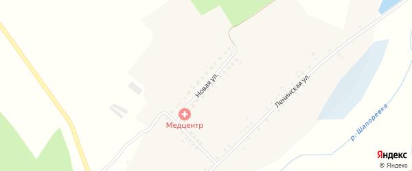 Новая улица на карте села Крапивна с номерами домов
