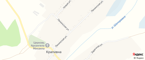 Ленинская улица на карте села Крапивна с номерами домов