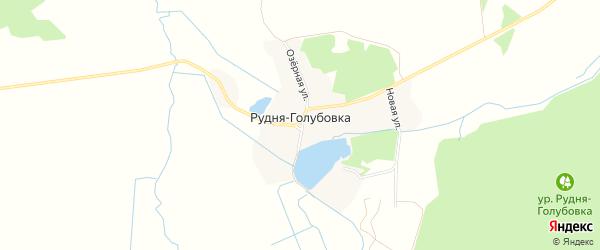Карта деревни Рудни-Голубовки в Брянской области с улицами и номерами домов