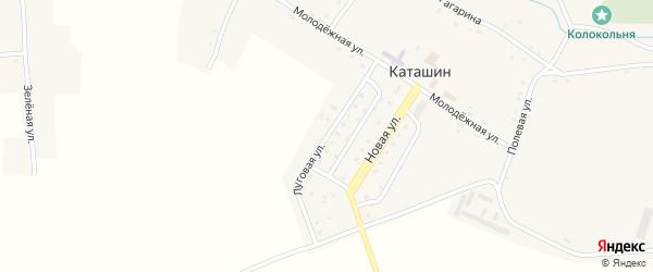 Луговая улица на карте села Каташина с номерами домов