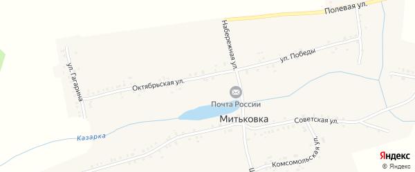 Улица Гагарина на карте села Митьковки с номерами домов
