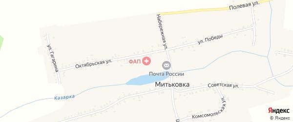 Октябрьская улица на карте села Митьковки с номерами домов