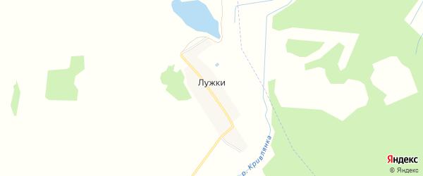 Карта поселка Лужки в Брянской области с улицами и номерами домов