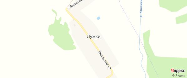 Заводская улица на карте поселка Лужки с номерами домов
