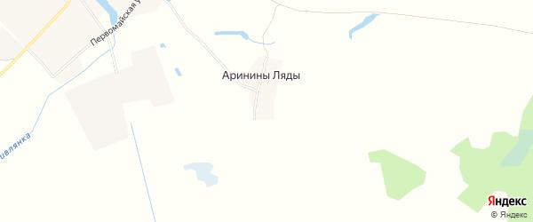 Карта поселка Аринины Ляды в Брянской области с улицами и номерами домов