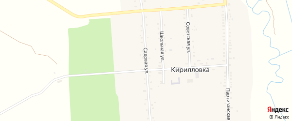Садовая улица на карте села Кирилловки с номерами домов