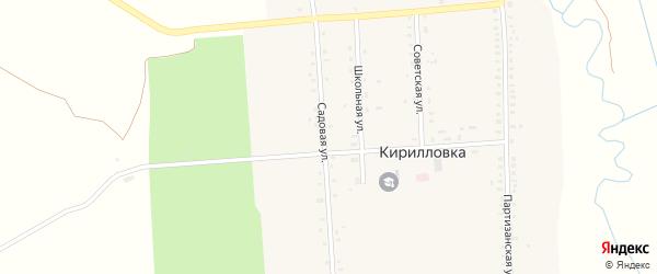 Садовая улица на карте поселка Погары с номерами домов