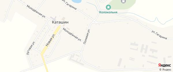 Полевая улица на карте села Каташина с номерами домов