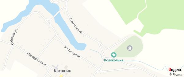 Советская улица на карте села Каташина с номерами домов
