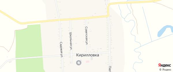 Советская улица на карте села Кирилловки с номерами домов