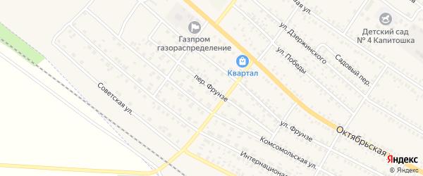 Переулок Фрунзе на карте поселка Климово с номерами домов