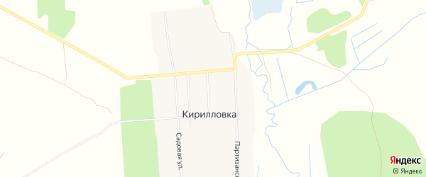 Карта села Кирилловки в Брянской области с улицами и номерами домов