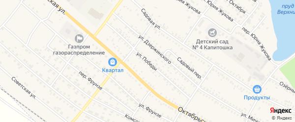 Улица Победы на карте поселка Климово с номерами домов