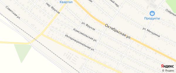 Комсомольская улица на карте поселка Климово с номерами домов