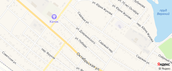 Улица Дзержинского на карте поселка Климово с номерами домов