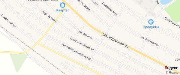 Улица Фрунзе на карте поселка Климово с номерами домов