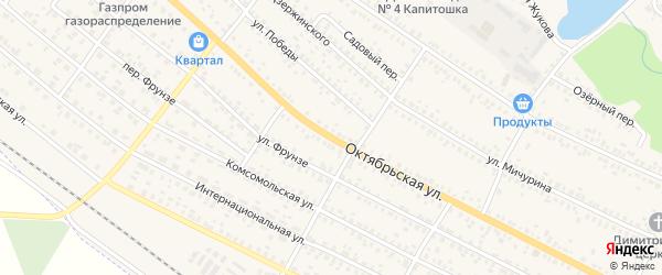 Октябрьская улица на карте поселка Климово с номерами домов