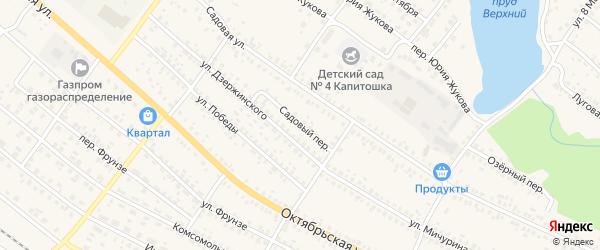 Садовый переулок на карте поселка Климово с номерами домов