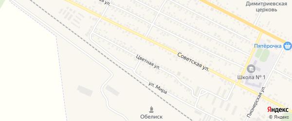 Цветная улица на карте поселка Климово с номерами домов