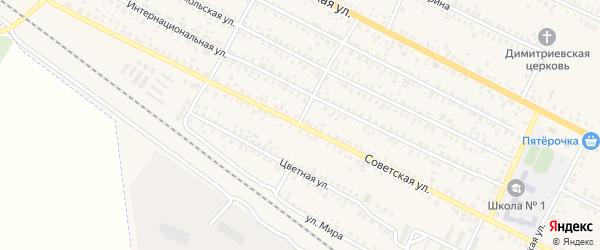 Советская улица на карте поселка Климово с номерами домов