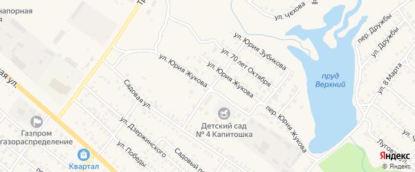 Улица Юрия Жукова на карте поселка Климово с номерами домов