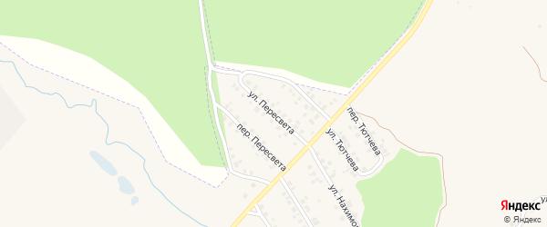 Улица Пересвета на карте поселка Климово с номерами домов