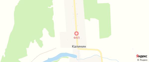 Улица Ворошилова на карте поселка Калинина с номерами домов