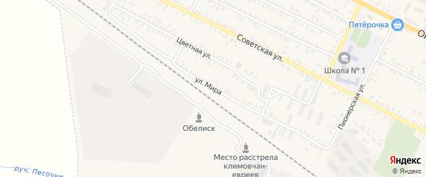 Улица Мира на карте поселка Климово с номерами домов