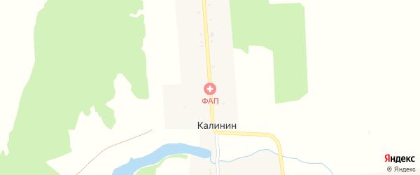 Калининская улица на карте поселка Калинина с номерами домов