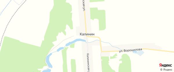Карта поселка Калинина в Брянской области с улицами и номерами домов