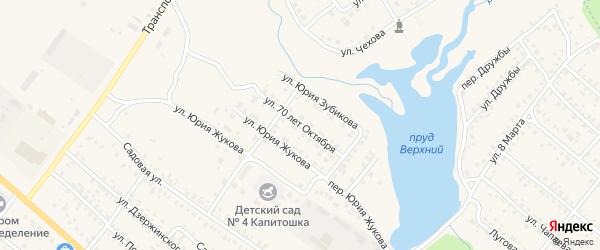 Улица 70 лет Октября на карте поселка Климово с номерами домов