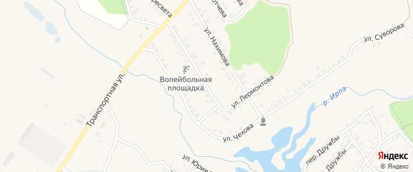 Улица Лермонтова на карте поселка Климово с номерами домов