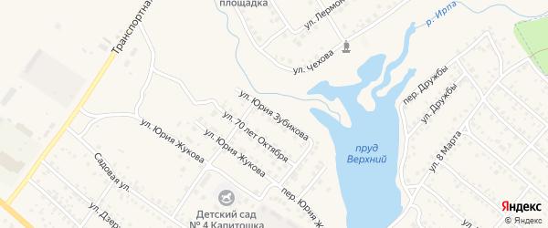 Улица Юрия Зубикова на карте поселка Климово с номерами домов