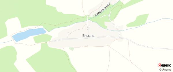 Карта деревни Близны в Брянской области с улицами и номерами домов