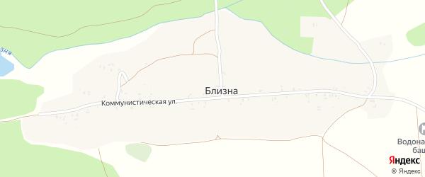 2-й Коммунистический переулок на карте деревни Близны с номерами домов