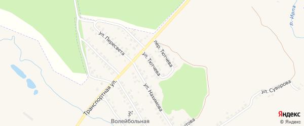 Улица Тютчева на карте поселка Климово с номерами домов