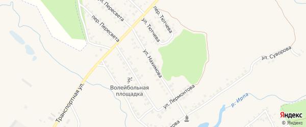 Улица Нахимова на карте поселка Климово с номерами домов