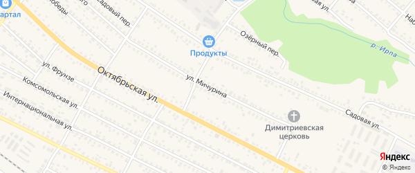 Улица Мичурина на карте поселка Климово с номерами домов